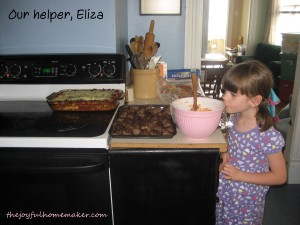 eliza in the kitchen